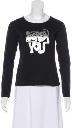ALEXACHUNG Graphic Long Sleeve Top w/ Tags