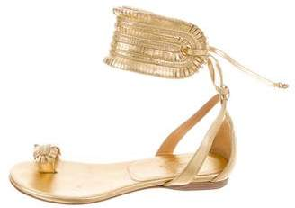 Hermes Metallic Cuffed Sandals