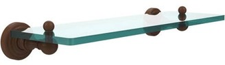"""Waverly Allied Brass Place Collection 16"""" Glass Vanity Shelf with Beveled Edges (Build to Order)"""