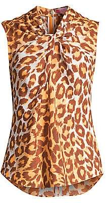 Kate Spade Women's Panthera Twisted Shell Top - Size 0