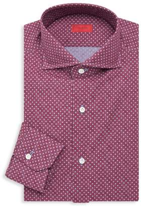 Isaia Contemporary-Fit Polka Dot Dress Shirt