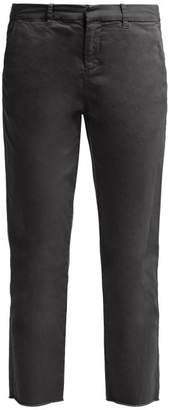 Nili Lotan Montauk Cropped Twill Chino Trousers - Womens - Dark Grey