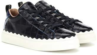 Chloé Lauren croc-effect leather sneakers