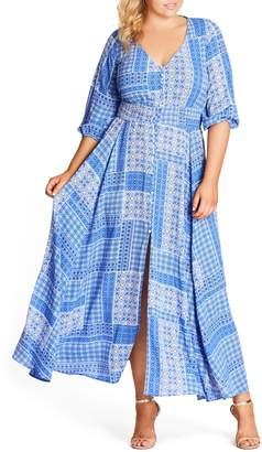 City Chic China Plate A-Line Maxi Dress