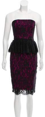 Robert Rodriguez Strapless Lace Dress