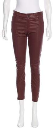 Haute Hippie Leather Mid-Rise Pants