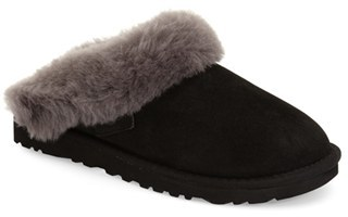 Women's Ugg 'Cluggette' Genuine Shearling Indoor/outdoor Slipper $109.95 thestylecure.com