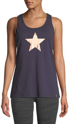 Marc Ny Performance Foiled Star Graphic Racerback Tank