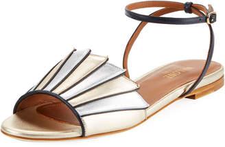 Malone Souliers Lois Layered Metallic Sandal