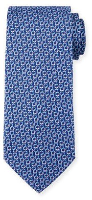 Salvatore Ferragamo Interlocking Gancini Silk Tie, Navy $190 thestylecure.com