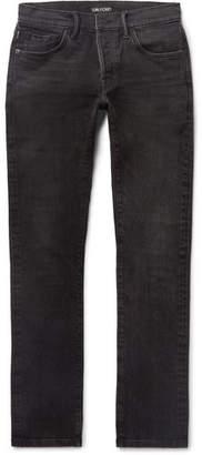 Tom Ford Slim-Fit Washed Selvedge Denim Jeans - Men - Charcoal