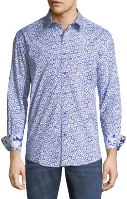1 Like No Other Classic-Fit Starburst-Print Sport Shirt, Blue