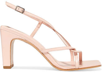 BY FAR - Carrie Leather Slingback Sandals - Neutral