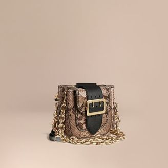 Burberry The Small Square Buckle Bag in Python Limited Edition $2,295 thestylecure.com