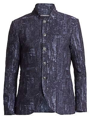 John Varvatos Men's Slim-Fit Mandarin Collar Jacket