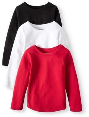 Garanimals Long Sleeve T-Shirt, 3-pack (Toddler Girls)