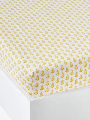 Vertbaudet Children's Fitted Sheet, Pineapple Split Theme