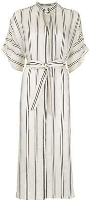 Aula striped midi dress