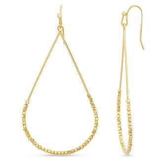 Kensie Women Polished Beaded Teardrop Shaped Drop Hook Earrings