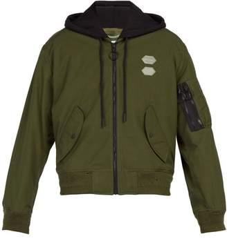 3f3cd9aec2c8 Off-White Off White Hooded Bomber Jacket - Mens - Green