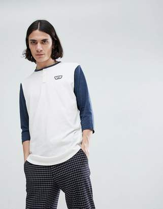 Vans Cajon Long Sleeve Top In Cream