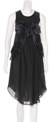 Jean Paul Gaultier Bow-Accented Midi Dress