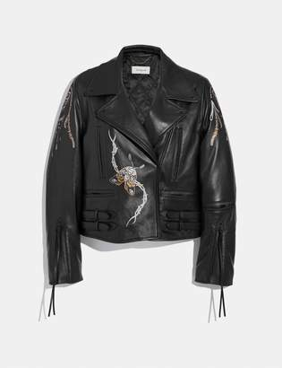 Coach Tattoo Moto Jacket