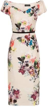 d63f27f5b77 Dorothy Perkins Womens   Little Mistress Cream Floral Pencil Dress