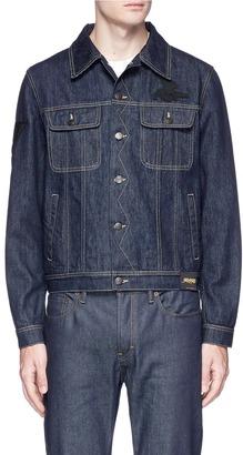 Stella McCartney Logo appliqué raw organic denim jacket