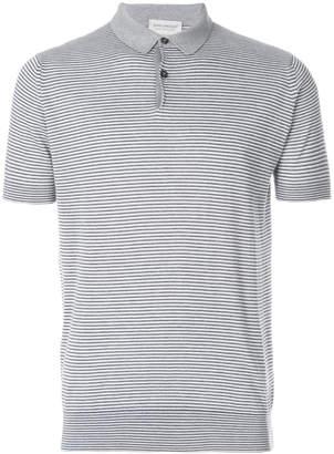 John Smedley Eton stripe polo shirt
