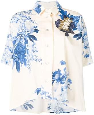 Antonio Marras blue floral blouse