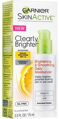 Garnier SkinActive Clearly Brighter Brightening & Smoothing Daily Moisturizer SPF 15 $15.49 thestylecure.com