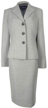 Evan Picone Metallic-flecked Jacket & Skirt Suit