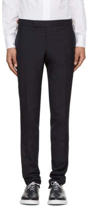 Thom Browne Navy Low-Rise Skinny Trousers