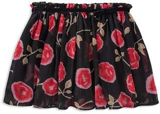Kate Spade Girls' Metallic Floral-Print Skirt - Big Kid