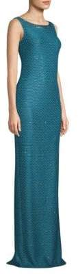 St. John Shimmer Sequin Knit Gown