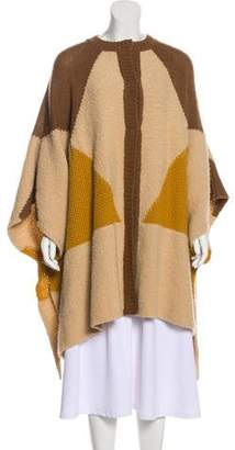 Stella McCartney Patterned Knit Cape