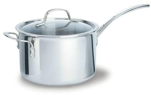 Calphalon Tri-Ply Stainless Steel Saucepan with Lid