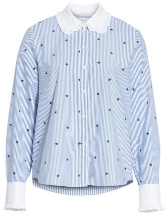 Women's Kate Spade New York Twinkle Stripe Poplin Shirt
