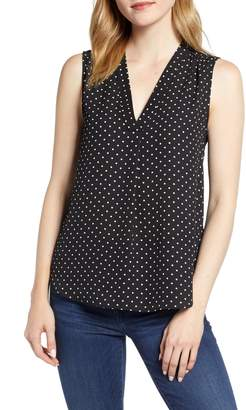 Vince Camuto Polka Dot Sleeveless Blouse