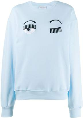 Chiara Ferragni eye appliqué sweatshirt