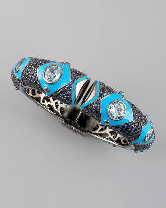 MCL by Matthew Campbell Laurenza Blue Sapphire & Topaz Bangle