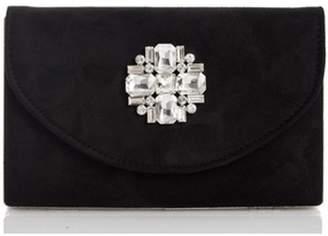 Dorothy Perkins Womens *Quiz Black Jewel Box Flip Bag