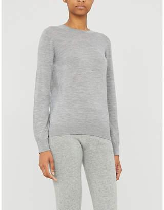 Johnstons Round-neck wool jumper