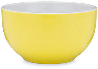 Q Squared Set of 4 Bistro Melamine Cereal Bowls - Yellow