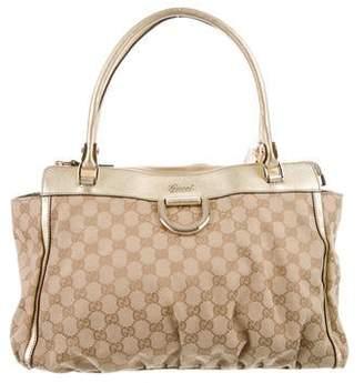 32a6808504a Gucci GG Canvas D-Ring Shoulder Bag