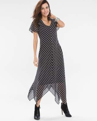Chevron Handkerchief Hem Dress