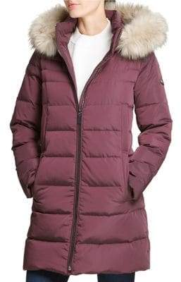 DKNY Walker Faux Fur Hooded Down Parka