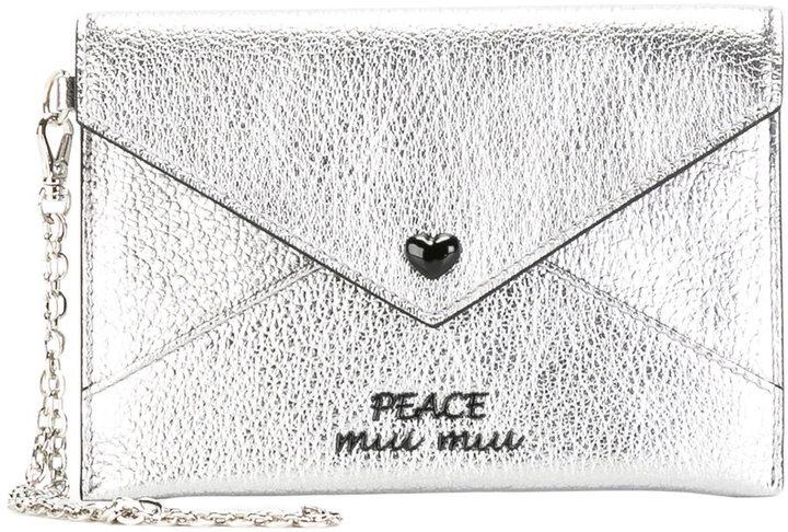 Miu MiuMiu Miu envelope coin purse