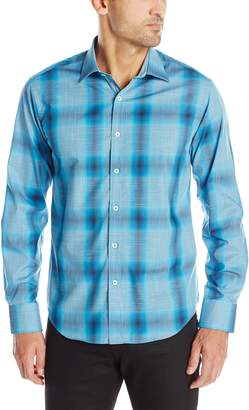 Bugatchi Men's Pellegrino Long Sleeve Shaped Button Down Shirt